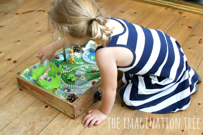 Playing with a magical fairy garden