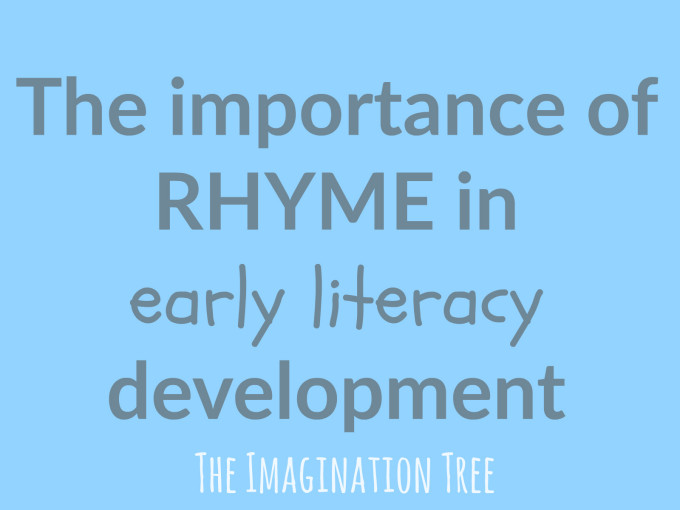 The importance of rhyme in early literacy development