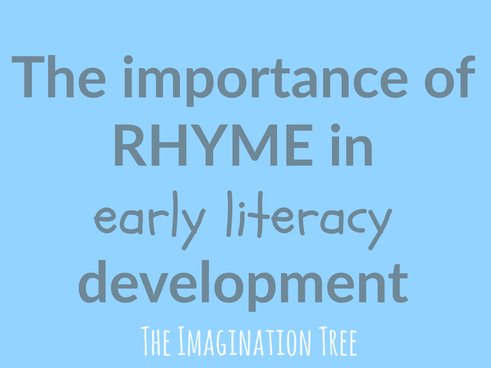 Rhyming Life Quotes The Importance Of Rhyme In Early Literacy Development  The