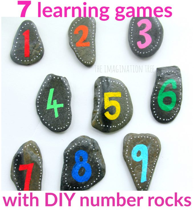 7 counting and calculations maths games to use with number rocks!