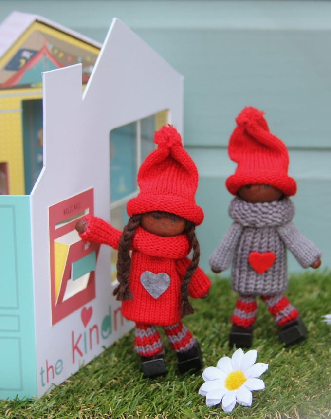 Classic set of Kindness Elves with their working mail box