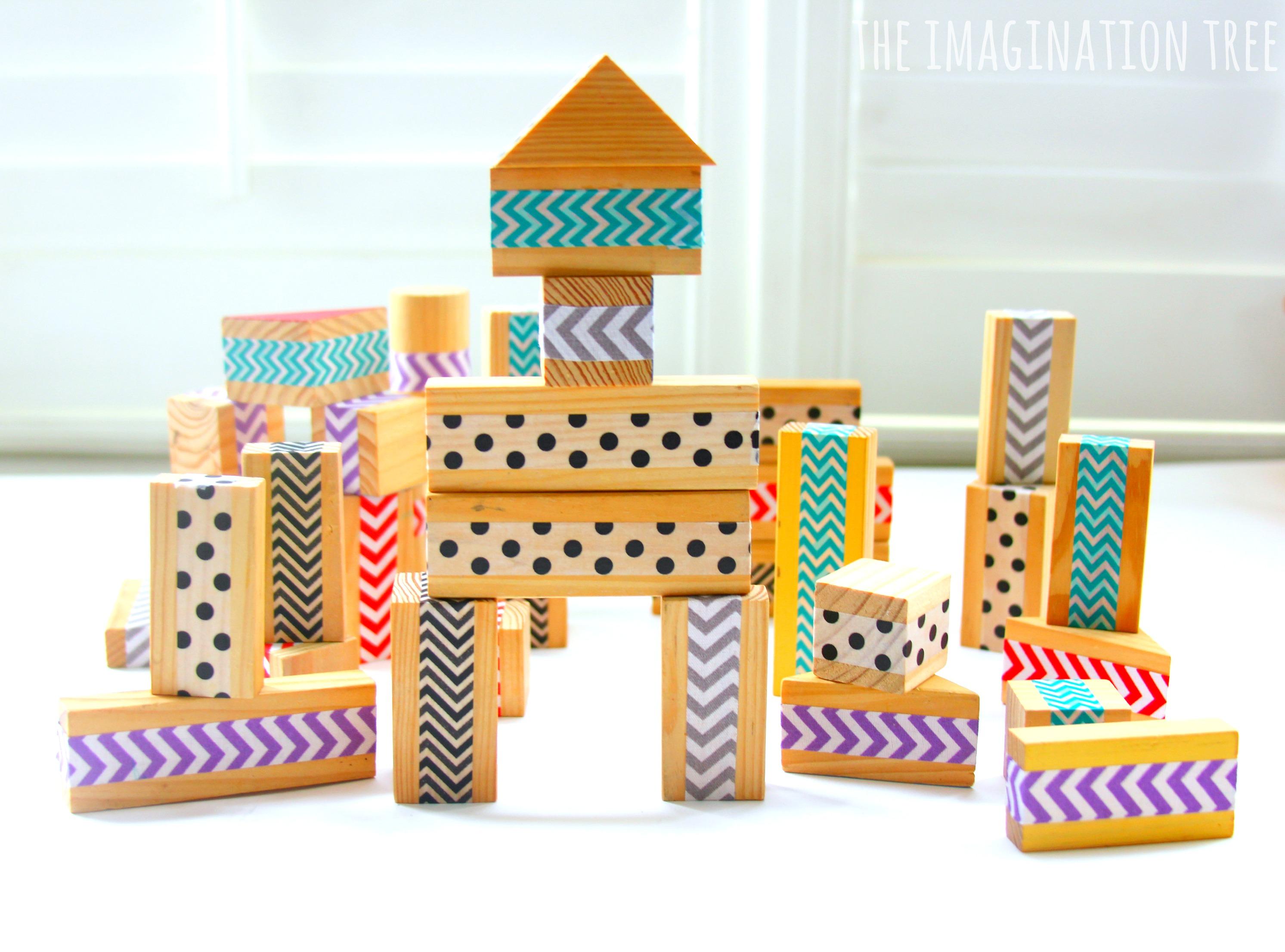DIY Patterned Wood BlocksThe Imagination Tree