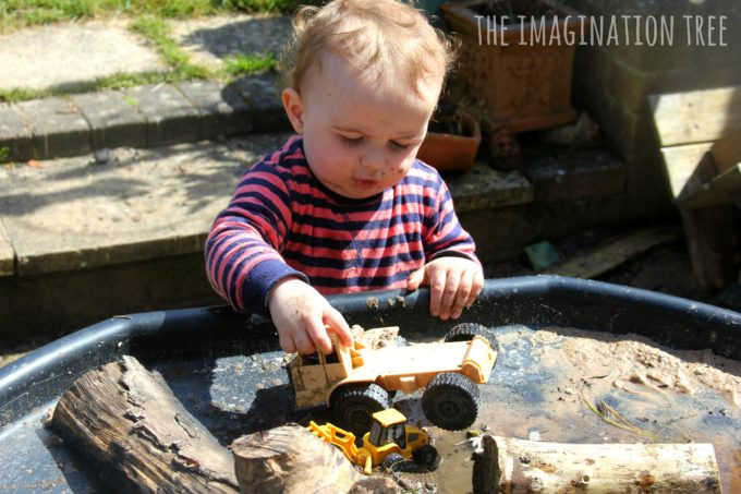 Diggers in the mud natural sensory play table!