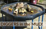 Diggers in the Mud Sensory Play Tray