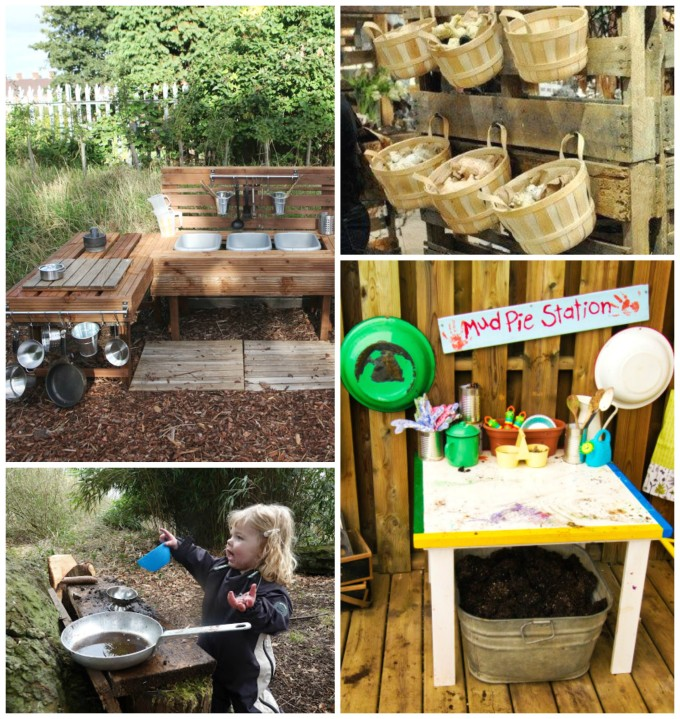 Fabulous mud kitchen ideas!