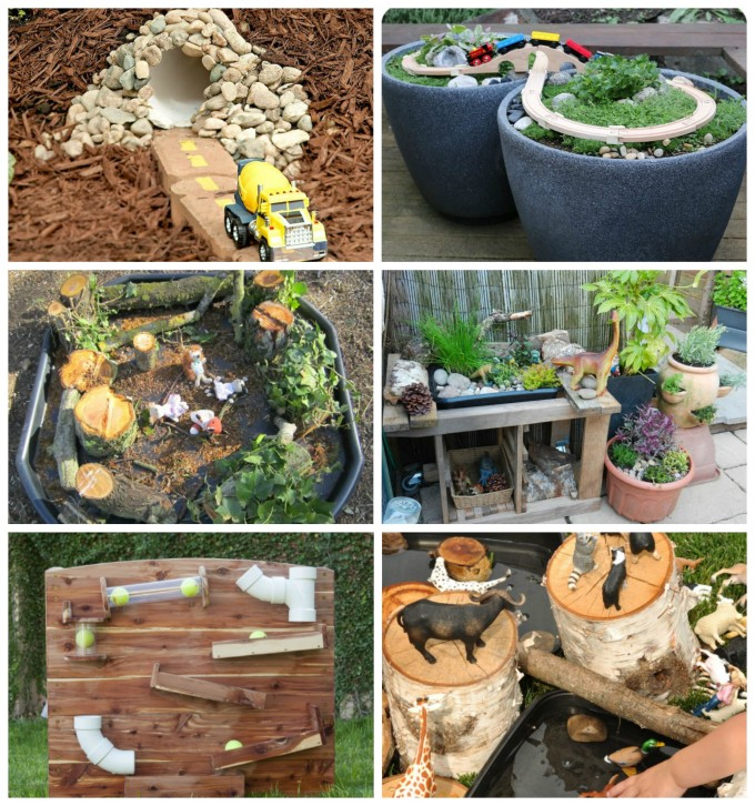 Imaginative play spaces in the outdoor area!