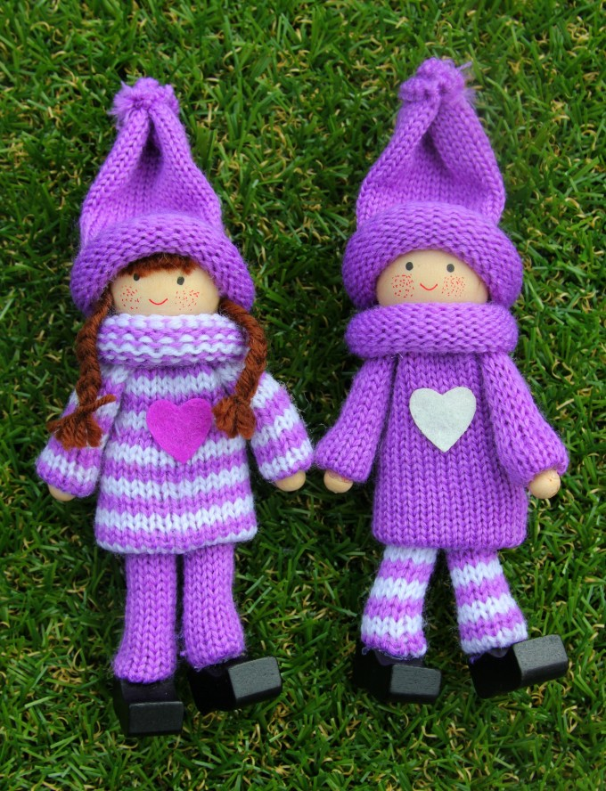 Kindness Elves for sale: purple set