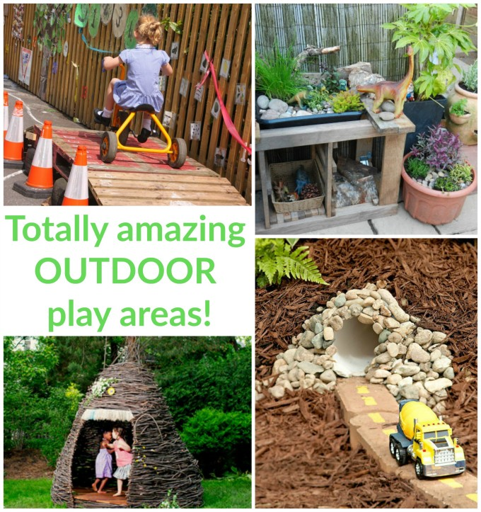 loads of ideas for inspiring outdoor play areas in this big collection - Garden Ideas Play Area