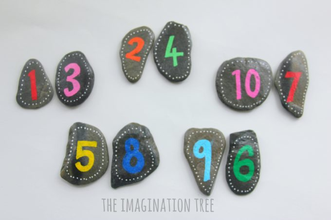 Making two digit numbers with number pebbles