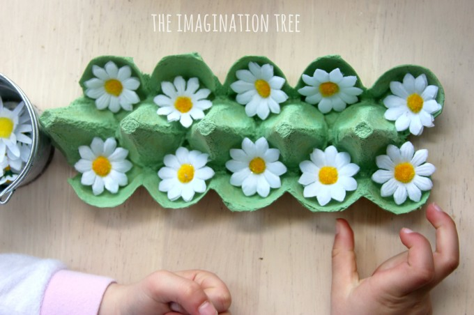 Number bonds to 10 using flowers