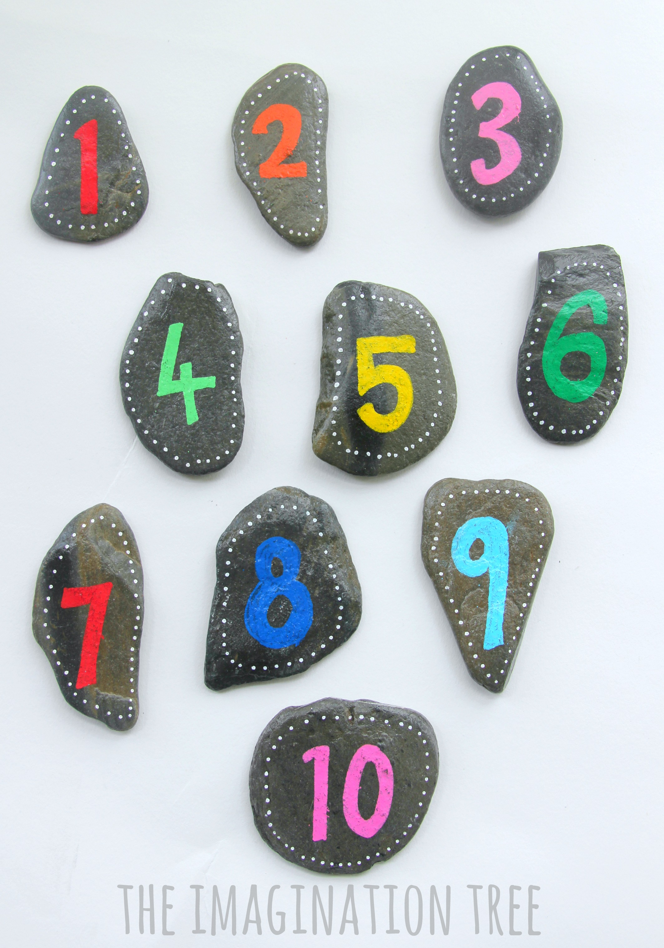 Diy Number Rocks For Maths Games The Imagination Tree