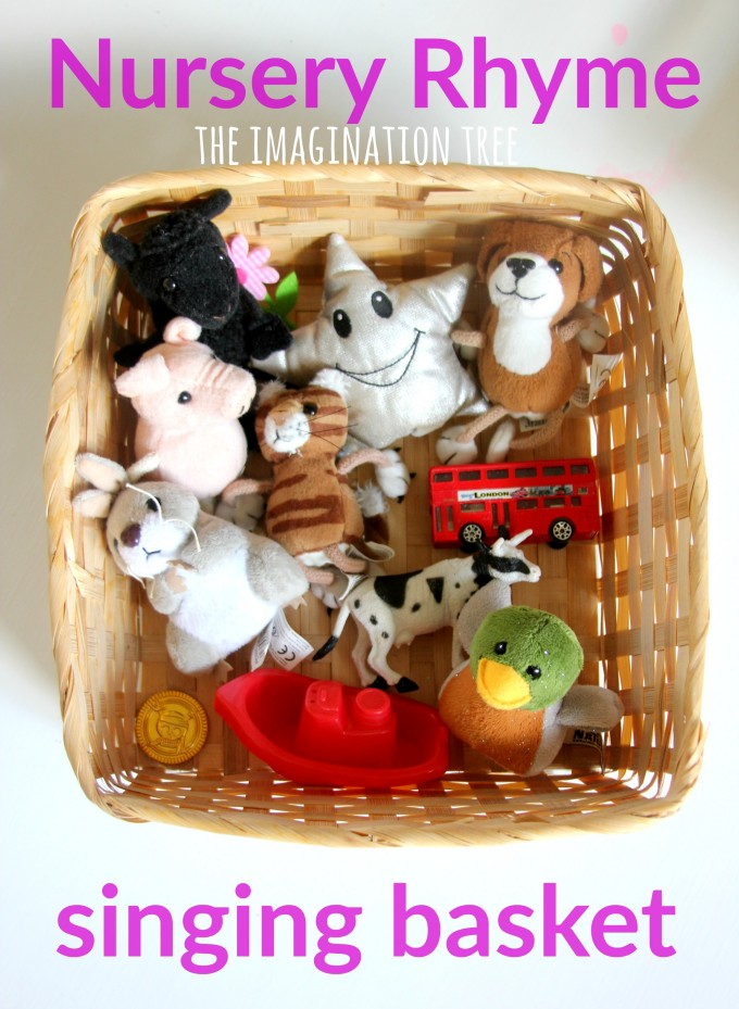 Nursery rhyme singing basket for preschoolers