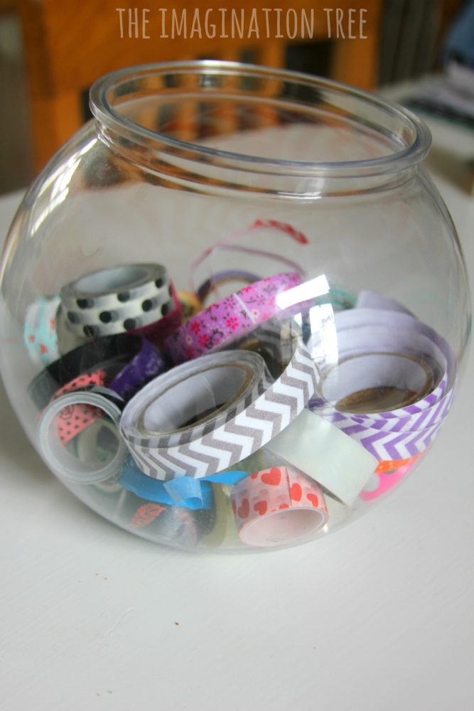 Washi tape crafting bowl