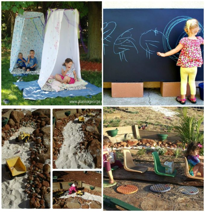 Fabulous ideas for creating outdoor play spaces!