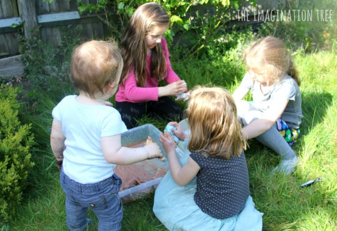 Farmyard messy play for kids
