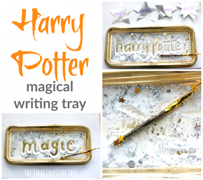 Harry Potter magical sensory writing tray for older kids