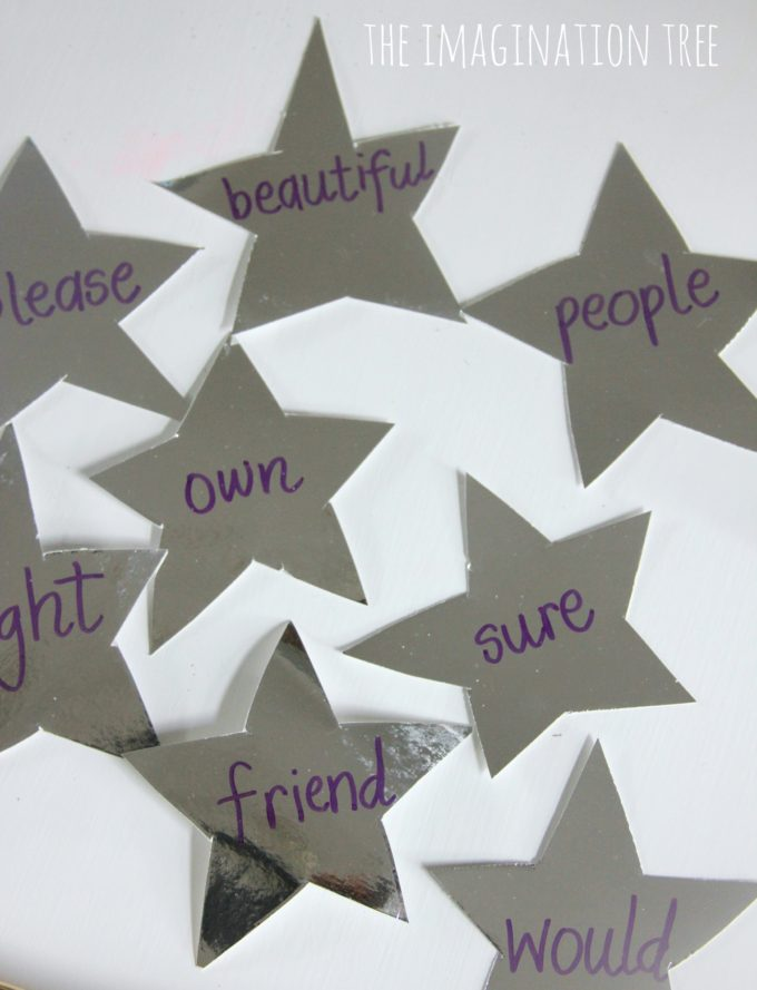 Spelling stars for a Harry Potter sensory writing tray
