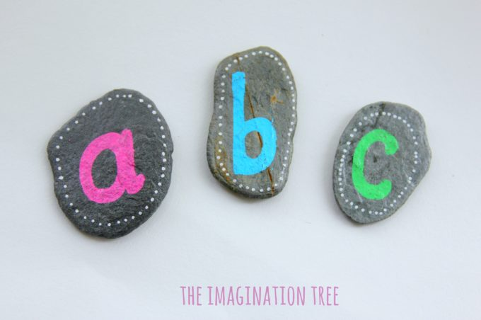 ABC rocks for literacy activities
