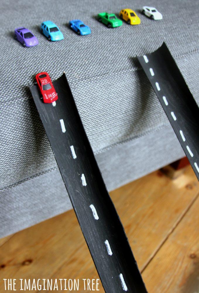 Cardboard Tube Car Ramps The Imagination Tree