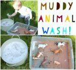 Wash the Muddy Farm Animals Sensory Play