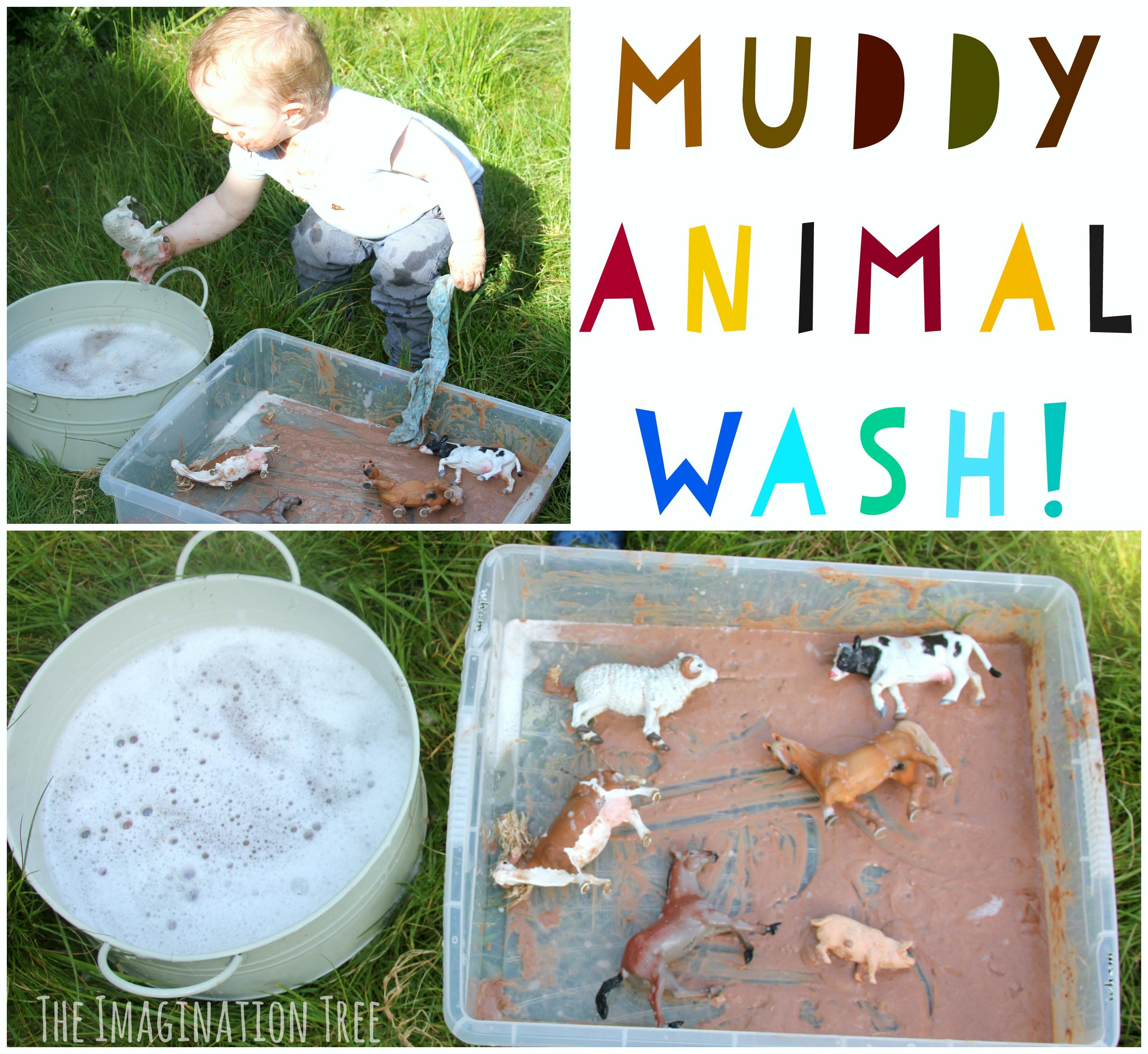 Wash The Muddy Farm Animals Sensory Play The Imagination
