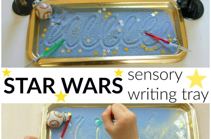 Star Wars sensory writing tray for children