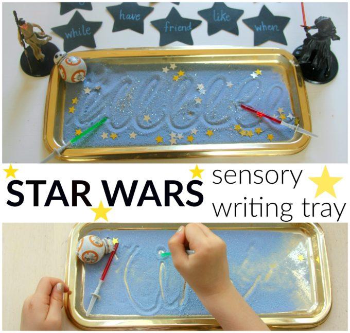 Star Wars sensory writing tray for children