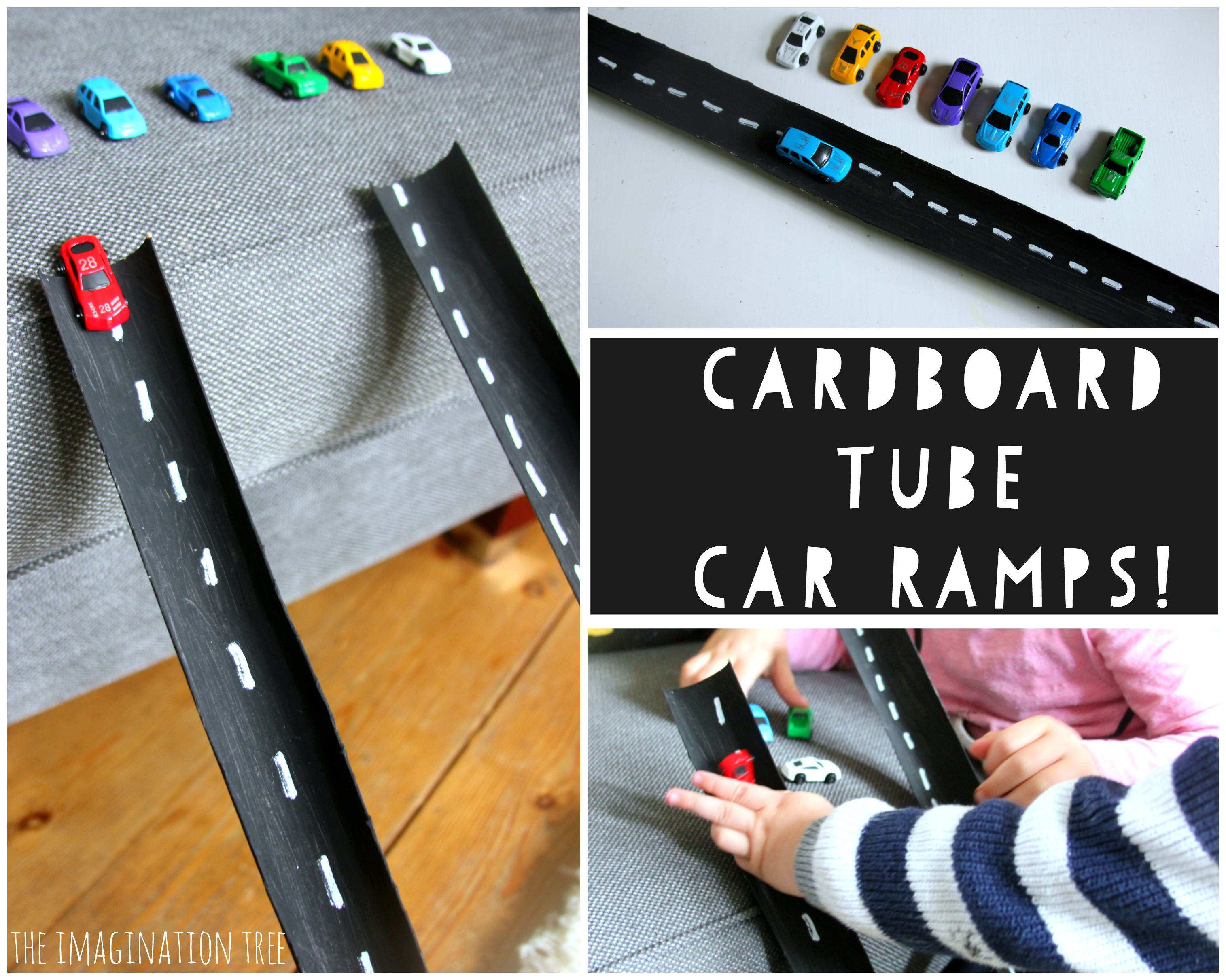 Cardboard Tube Car Ramps The Imagination Tree