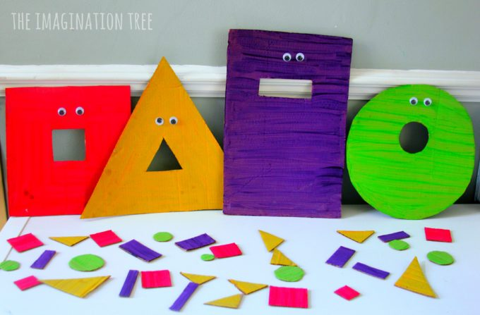 Feed the shape monsters shape sorting game for kids!