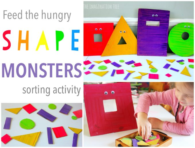 Feed the Hungry Shape Monsters Sorting Game