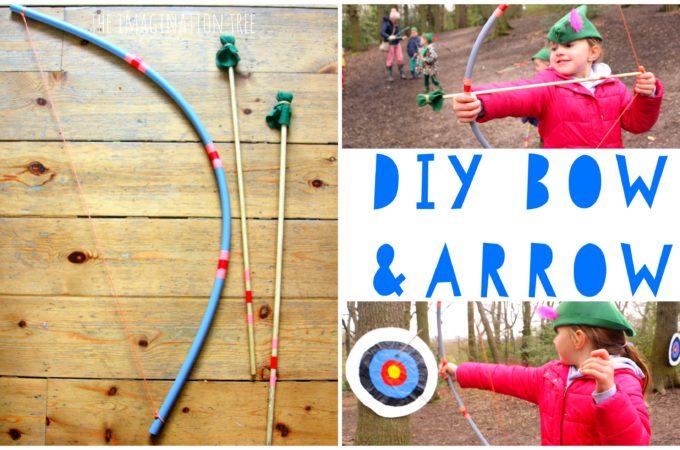 DIY bow and arrow craft activity