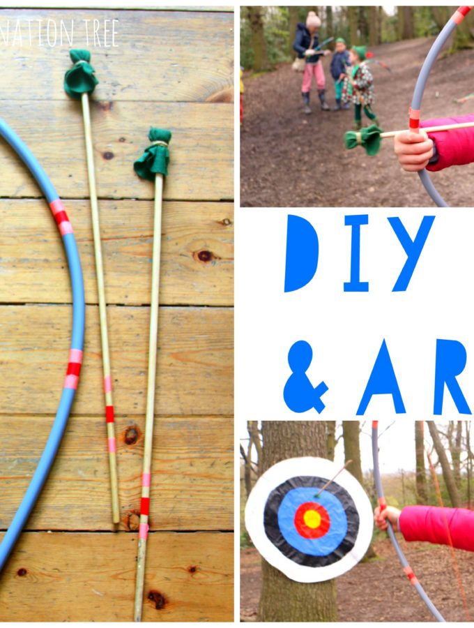 DIY bow and arrow craft activity