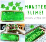 Monster Slime Sensory Writing Tray