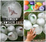 Frozen Dinosaur Eggs Sensory Play