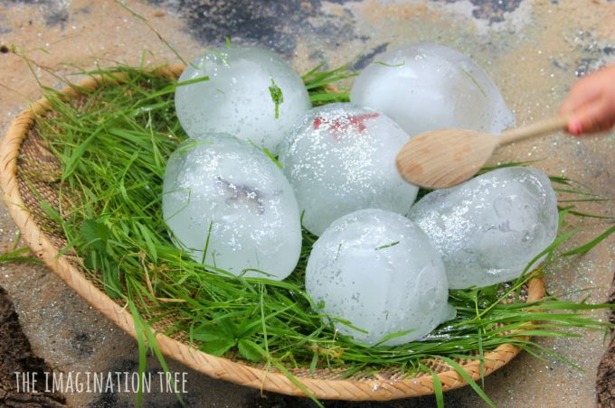 sensory-play-fun-with-frozen-dinosaur-eggs