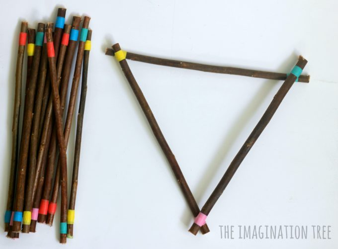colour-matching-and-shape-building-using-coloured-sticks-natural-loose-materials