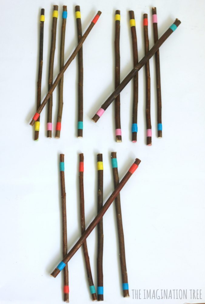 counting-and-grouping-with-diy-coloured-sticks