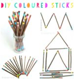 DIY Coloured Sticks for Creative Play