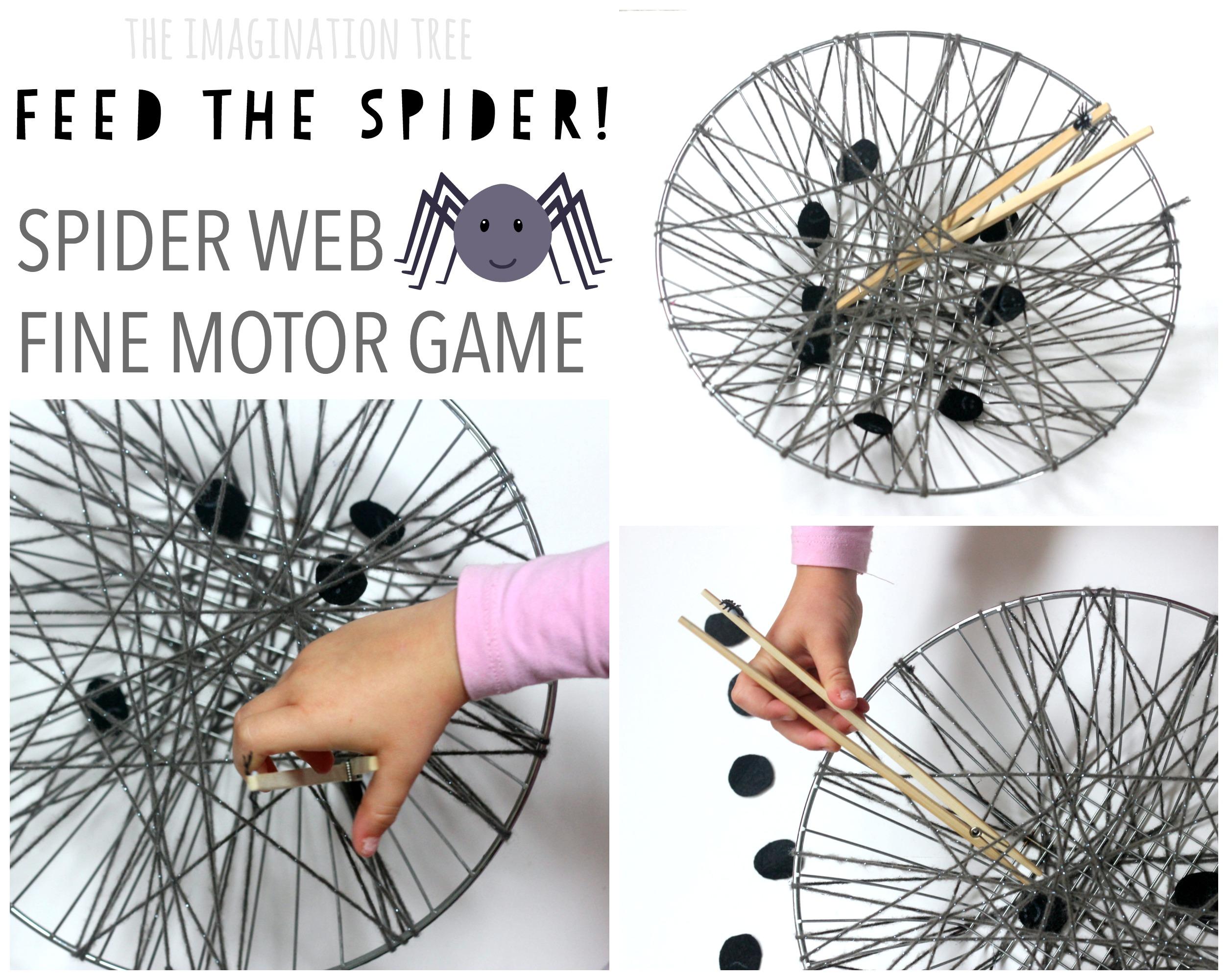 Spider Web Fine Motor Game The Imagination Tree