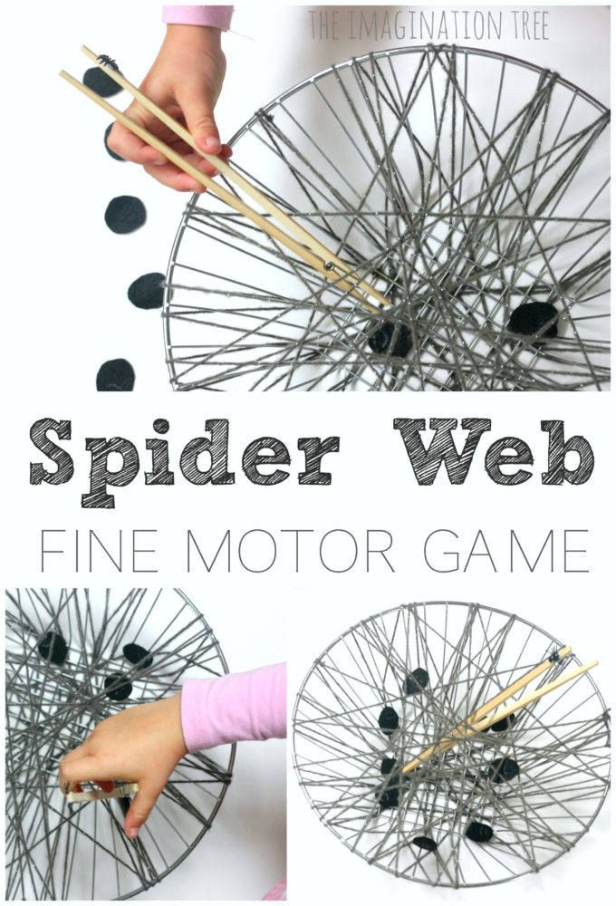 Funky finger spiderweb fine motor activity for kids