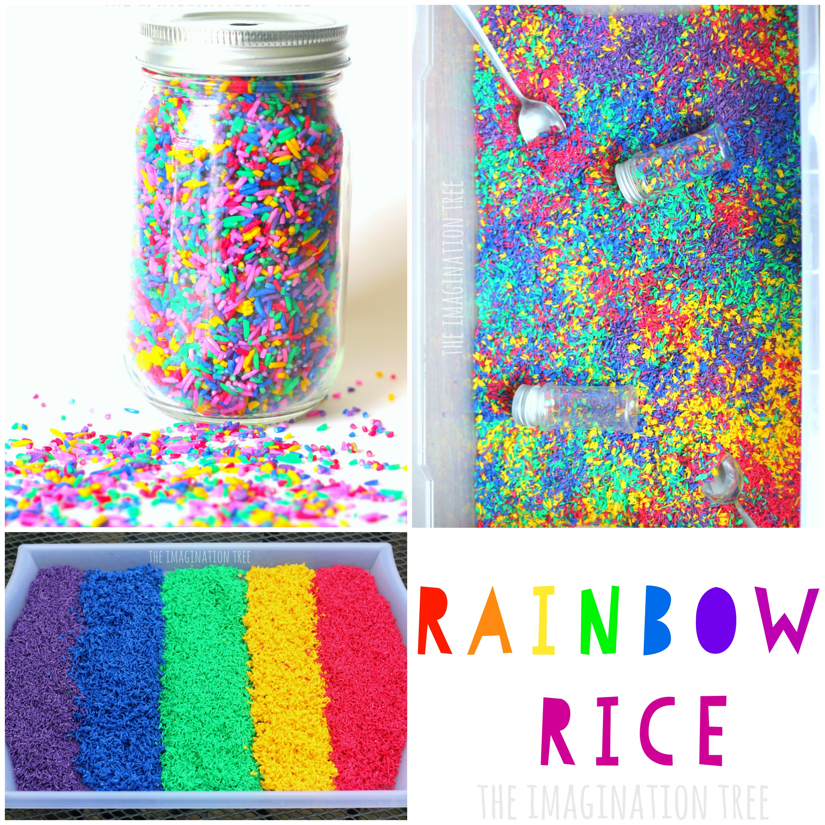 easiest way to dye rice for sensory play the imagination tree