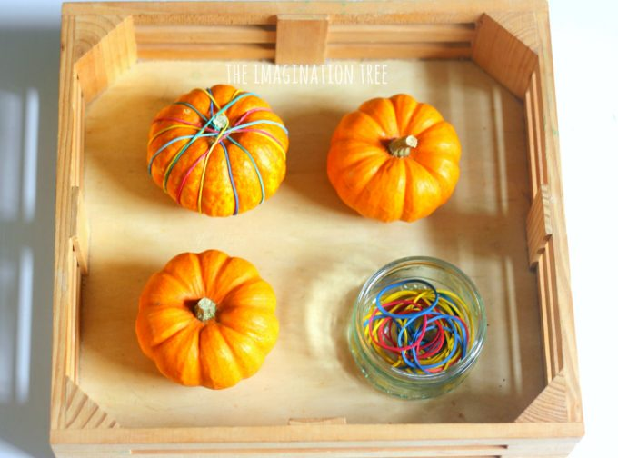 pumpkin-and-rubber-bands-fine-motor-skills