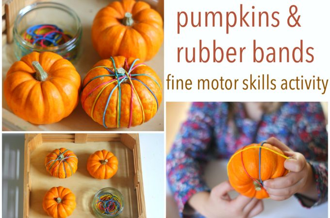 pumpkin-and-rubber-bands-fine-motor-skills-activity