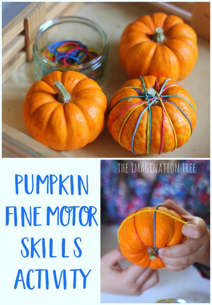 Pumpkin Fine Motor Skills Activity The Imagination Tree
