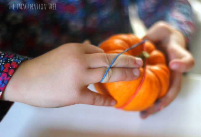 rubber-bands-and-pumpkins-fine-motor-activity