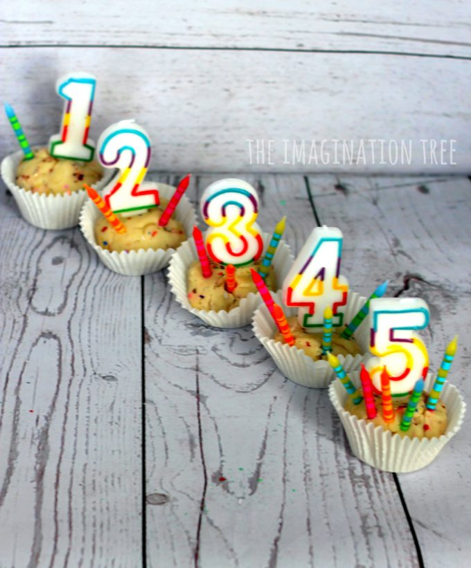 Birthday cake play dough counting activity!