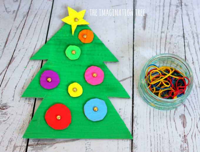 Christmas Tree Geoboard Fine Motor Activity