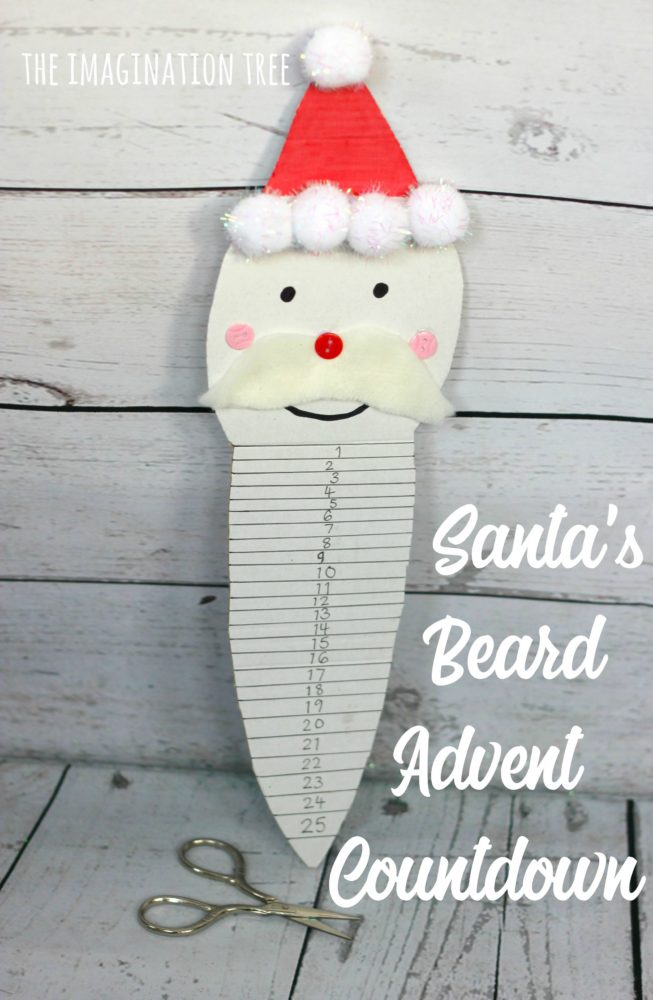 Santa's Beard Advent Countdown Calendar for kids!