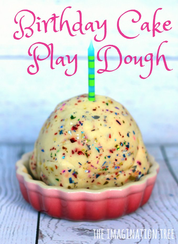 How to make scented birthday cake play dough!