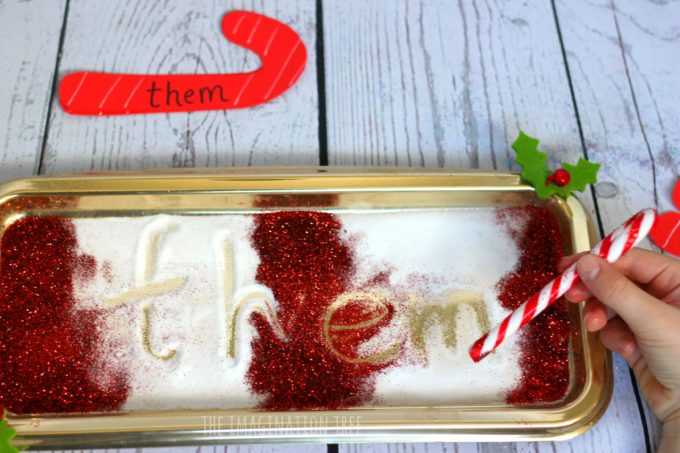 candy-cane-sight-word-writing-tray